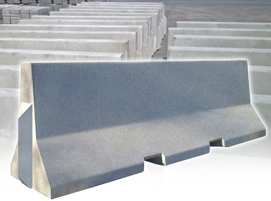 Concrete jersey barriers msm block hire