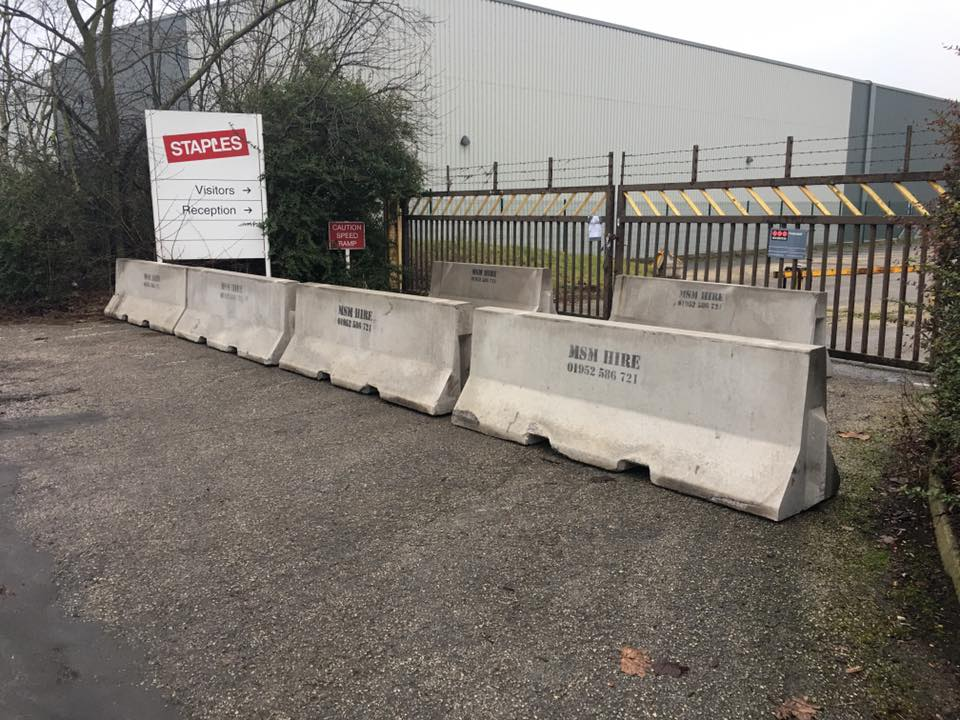 Temporary vertical concrete barrier tvcb msm block hire
