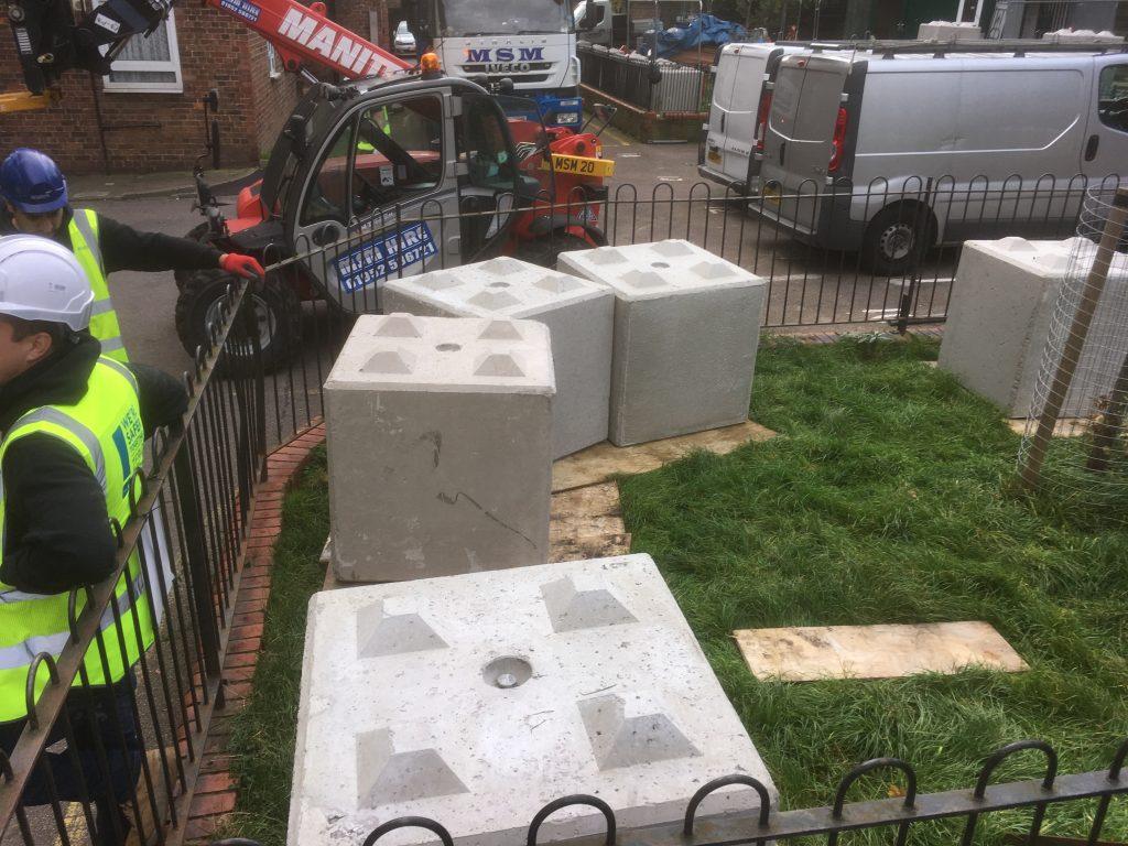 Concrete Hoarding Block Hire